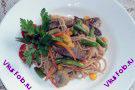Говядина с гречневой лапшой (Вафу итамэ яки)