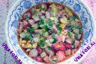 Окрошка овощная с колбасой рецепт