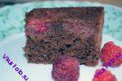 Малиновый пирог с шоколадом