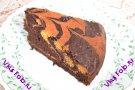 Тыквенно-шоколадный двухцветный пирог