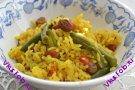 Плов с зеленой фасолью (Индийская кухня) Масала хари матар пулау