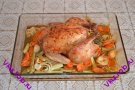 Курица фаршированная тимьяном и лимоном