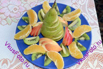 Еще одна фруктовая тарелка.