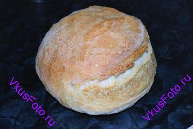 Выпекать хлеб в предварительно разогретой духовке.  10 минут при температуре 250 градусов. Затем температуру уменьшить до 200 градусов и выпекать 25-30 минут.