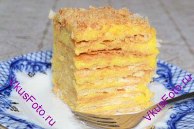Торт наполеон нежный с пошагово