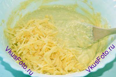 Сыр добавить в тесто.