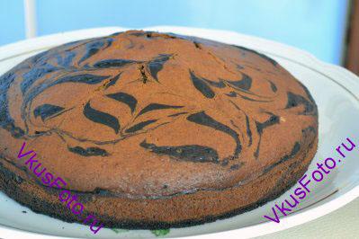 Выпекать пирог в разогретой духовке при температуре 190 градусов в течении 30-40 минут. Готовность пирога проверять деревянной палочкой. Если деревянная палочка после втыкания в пирог останется сухой, значет пирог пора вынимать из духовки.