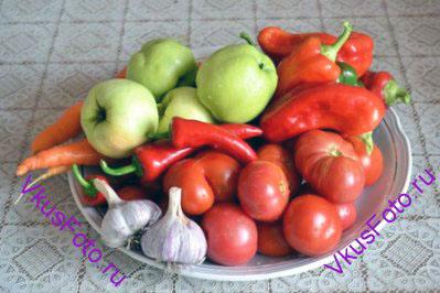 Подготовить овощи.
