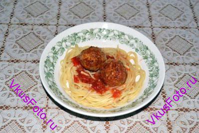 Лучше всего подавать со спагетти.